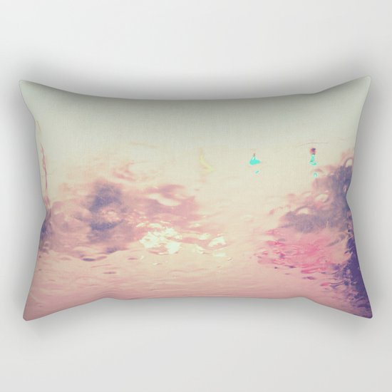 rainy reflections Rectangular Pillow