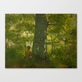 CORINTH, LOVIS 1858 Tapiau East Prussia - 1925  Im Walde In the Forest. 1886. Canvas Print