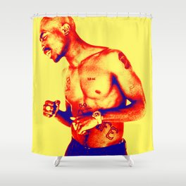 Red Painting Shower Curtains