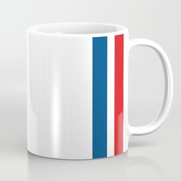 McQueen – Red and Blue Stripes Coffee Mug