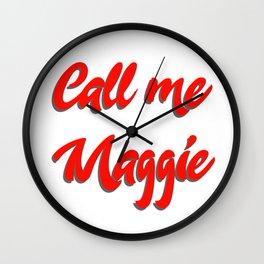 Call me Maggie #buyart #kirovair #design #minimalism #society6 Wall Clock