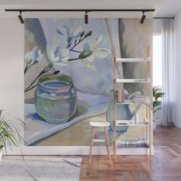 Flowers and vase Wall Mural
