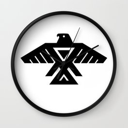 Native American Thunderbird Symbol Flag Wall Clock