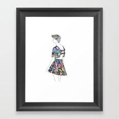 I don't care! Framed Art Print