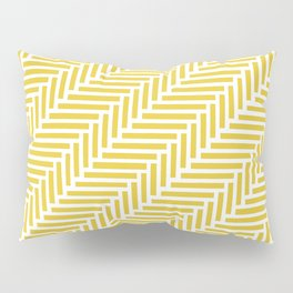 Herringbone 45 Yellow Pillow Sham