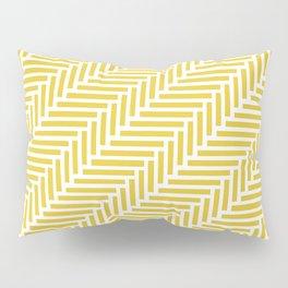 Herringbone 45 Yellow Pillow Sham