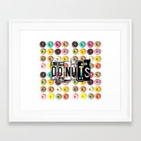 donuts Framed Art Prints featuring DONUTS by Vertigo