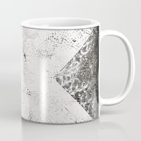 cross Mugs featuring Cross by FYLLAYTA, surface design,Tina Olsson
