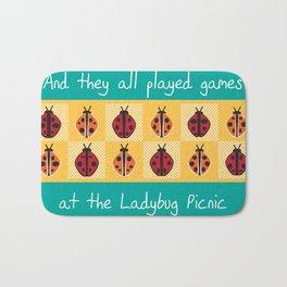 Ladybug Picnic Bath Mat