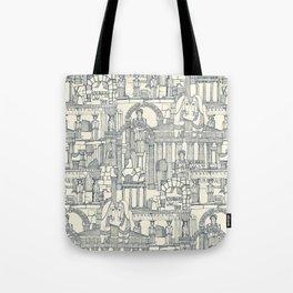 Ancient Greece indigo pearl Tote Bag