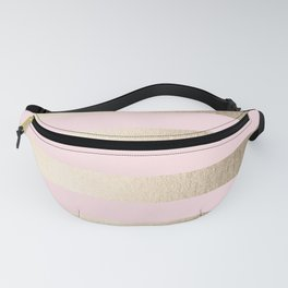 Simply Striped in White Gold Sands and Flamingo Pink Fanny Pack