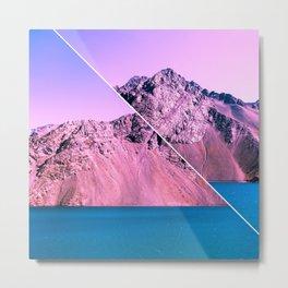 Landscape Glitch Metal Print
