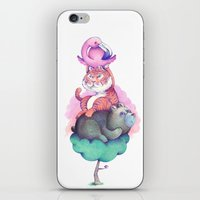 totem iPhone & iPod Skins featuring Totem by Anna Cannuzz