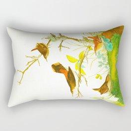 Winter Wren and Rock Wren Bird Rectangular Pillow