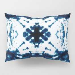 Velvet Shibori Blue Pillow Sham