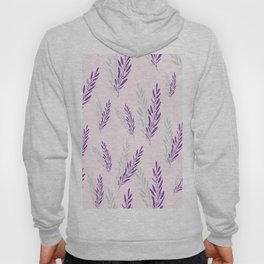 Fragrant lavender flowers in purple arranged in an endless pattern. Hoody