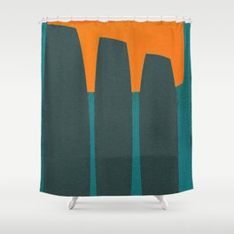 Indigenous Peoples in Easter Island Shower Curtain