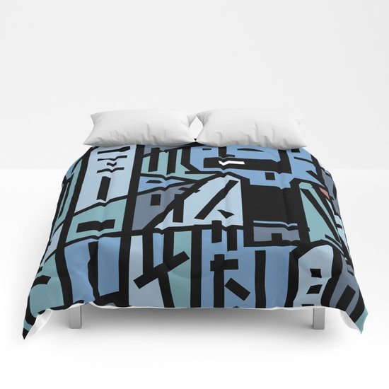 The sad hipster and the copper mosquito Comforters
