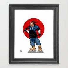 Street Samurai Series - Blue Framed Art Print