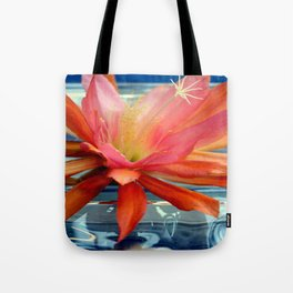 The Water Lily Cactus Tote Bag
