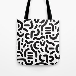Abstract Black And White African Inspired Art Tote Bag