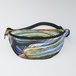 Green Striped Cushaw Fanny Pack