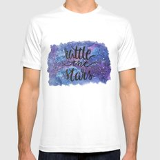 Rattle the Stars MEDIUM White Mens Fitted Tee