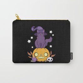 Pumpkin Cat // Black Carry-All Pouch