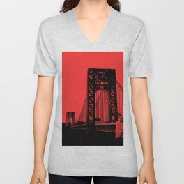 George Washington Bridge Unisex V-Neck