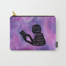 Never Trust Anyone (Lemony Snicket Quote) Carry-All Pouch