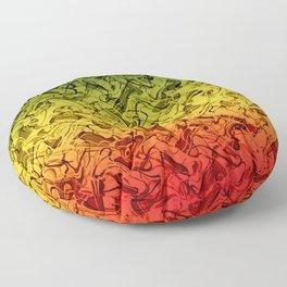 Rasta Fire Floor Pillow