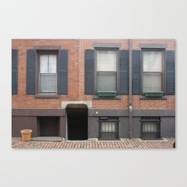 Boston Townhouse Canvas Print