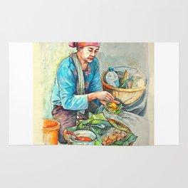The javanese salad or pecel Rug