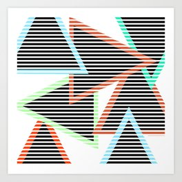 Sunset Triangles Art Print