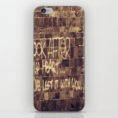 Take Care of My Heart iPhone & iPod Skin