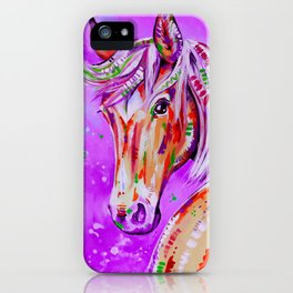Cinnamon in Pink - Palomino Horse Art iPhone Case