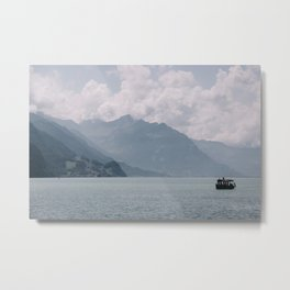 Photo of a boat Lake Brienz/Brienzersee, Berner Oberland, Suisse | Colorful travel photography | Metal Print