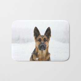German sheppard Bath Mat