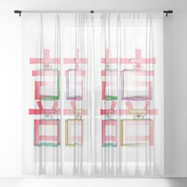 NO.5 DOUBLE HAPPINESS IN RED Sheer Curtain