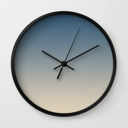 Blue & Beige Gradient Ombre Blend Inspired by Chinese Porcelain PPG1160-6 & Alpaca Wool PPG14-19 Wall Clock