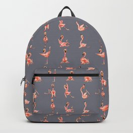 Flamingo Yoga Watercolor Backpack