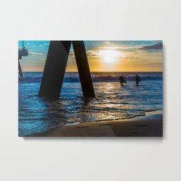 California Sunset Surfing edition Metal Print