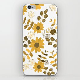 Big Yellow and Brown Flowers iPhone Skin