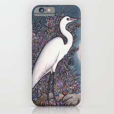 Egret in the Moonlight iPhone 6s Slim Case