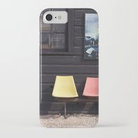 posters iPhone & iPod Cases featuring Seats outside Heritage Posters by RMK Creative