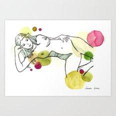 Conil 01 acuarela watercolor Art Print