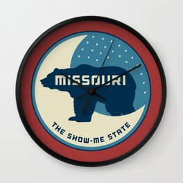 Missouri - Redesigning The States Series Wall Clock