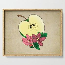 Apple Blossom Tattoo Flash Serving Tray