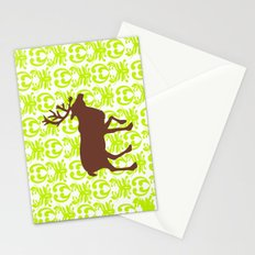 Reindeer art Stationery Cards