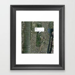 What if Manhattan Was Designed Like Paris? Framed Art Print
